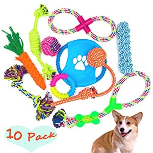 FIRIK-Dog-Rope-Toys-10-Set-Pack-Variety-Pet-Toy-For-Medium-to-Small-Doggie