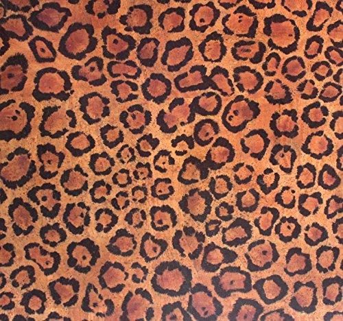 versacork Alfombra Leopard 1.40x 1m 0,8mm de grosor) veganas Alfombra de corcho/nanooberf Encorvado/suciedad y al agua/exclusiva haptik/fußwarm/antialérgico/retardante de llama