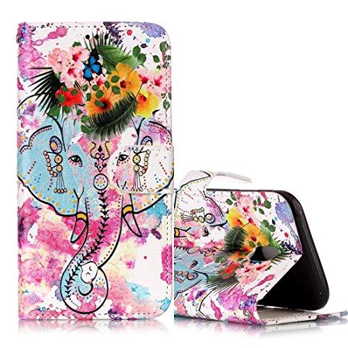 Schützen Sie Ihr Mobiltelefon Für Samsung Galaxy J3 (2017) (EU Version) Gloss Öl Geprägte Wolf Muster Horizontale Flip Ledertasche mit Halter & Kartensteckplätze & Brieftasche & Bilderrahmen für Samsung Handy ( SKU : Sas0657g ) (Polyurethan-glanz-Öl)