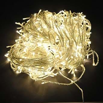 Luci di Natale - illuminazione catena - striscia di led per esterno / interno (bianco caldo/12M)