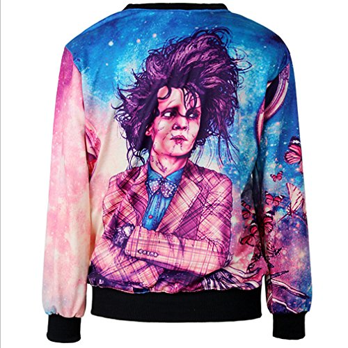 THENICE Femme Sweat-shirts Manches Pulls Singer
