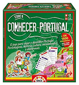 Educa Borrás- Conhecer Portugal, Juego de Mesa en portugués (14670)