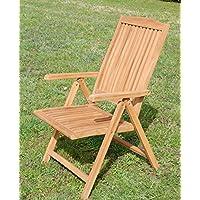 TEAK Design Hochlehner Gartensessel Gartenstuhl Sessel Holzsessel  Klappsessel Gartenmöbel Holz Sehr Robust Modell: TOBAGO Von