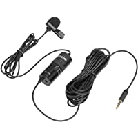 Boya BY-M1 Pro Omnidirectional Lavalier Condenser Microphone with Gain control, Headphone-out, Noise cancellation for…
