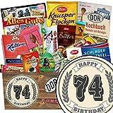74. Geburtstagsgeschenk | Schokolade Paket | Geschenkideen | Schokolade Set | mit Viba, Zetti und mehr
