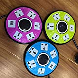 Eco-friendly UFO Round Tube Socket Multi-function USB Socket Power Outlet 1.8 Meters Tow Line Board Outputs 110V 10A Power Strip With Overload Protector-Green Color (as Per Color Availability)