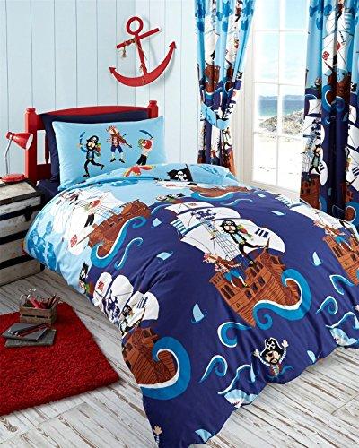 Divers - Adorno de piratas de duvet de la cubierta y funda de almohada de cama para cama 1 persona - 1581