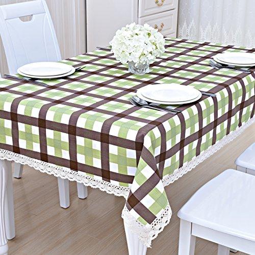 Preisvergleich Produktbild ZC&J Indoor-Tisch, Couchtisch, Schreibtisch, rechteckige Baumwoll-Tischdecke Tischdecke, kontinentaler Stil, hochwertige Tischdecke,B4,130*180cm