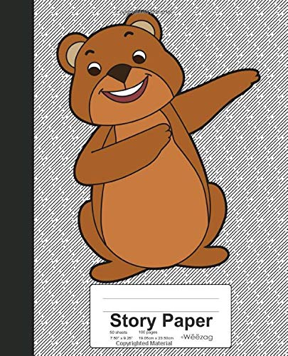 Story Paper: Dabbing Toy Bear Book (Weezag Story Paper Notebook, Band 186) (Toy Story-film-theater)
