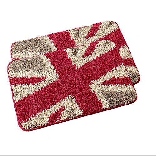 Un simple desliz mats tapetes de lana/superficie resistente al desgaste, suciedad lady arroz rojo el campo 60*90