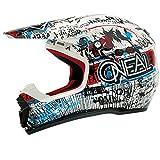 O'Neal 5Series MX Helm Acid Blau Rot Moto Cross Motorrad Enduro MX Offroad, 0618A-6, Größe XX-Large (63-64 cm)