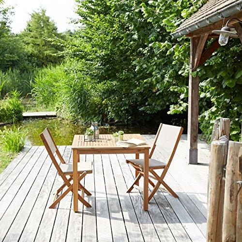 Salon de Jardin en Bois d'acacia FSC 2 Places