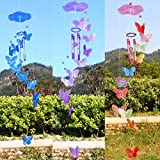 #9: Generic Creative Butterfly Mobile Wind Chime Bell Garden Indoor Decor Ornament Gift OE