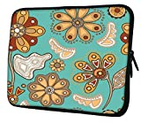 """Snoogg Colorful Floral Seamless Pattern In Cartoon Style Seamless Pattern 17"""" 17.5"""" 17.6"""" inch Laptop Notebook Slipcase Sleeve Soft Case Carrying Case for Macbook Pro Acer Asus Dell Hp Sony Toshiba Amazon Rs. 799.00"""