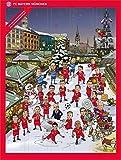 FC Bayern Adventskalender 2015 mit Schokolade und Autogrammkarten