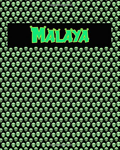 120 Page Handwriting Practice Book with Green Alien Cover Malaya: Primary Grades Handwriting Book Malaya Cover