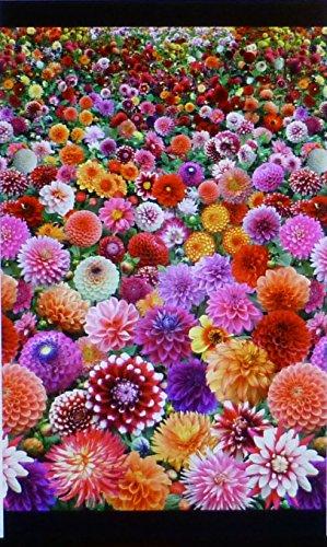 Digitale Garden ~ Garden View pannello 24x 44di Elizabeths studio tessuto di (Cottage Garden Quilt)