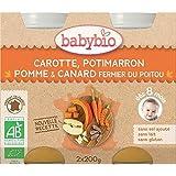 Babybio menu legume canard sans gluten 2x200g 8 mois - ( Prix Unitaire ) - Envoi Rapide Et Soignée