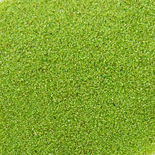trendmarkt24 Farb-Sand 1000g, Apfel-Grün ✓ Deko-Sand für vielseitige Bastelideen ✓ tolle Tischdeko/Tischdekoration ✓ zum Befüllen von Glasgefäßen Vasen Teelichthalter ✓ bunter Sand 275051