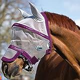 Horseware Rambo Plus Fly Mask Vamoose Fliegenmaske Silver/Purple Small Pony / Pony / Cob / Horse (Small Pony)