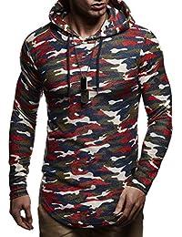 25bca6644036 LEIF NELSON pour des Hommes Pullover Pull à Capuche Hoodie Longsleeve  Sweatshirt Sweater avec Capuche LN6300