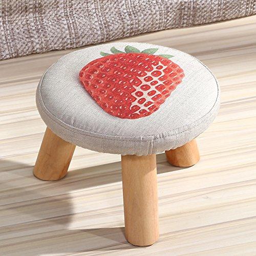 Dana Carrie En d'autres selles banc de chaussures sur une table basse tabouret bas en bois massif et tissus adultes enfants créatifs élégante petite chaise canapé rond, les fraises.