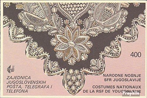 Jugoslawien MH2 (kompl. Ausg.) 1986 Volkstrachten (Briefmarken für (Französische Volkstrachten)