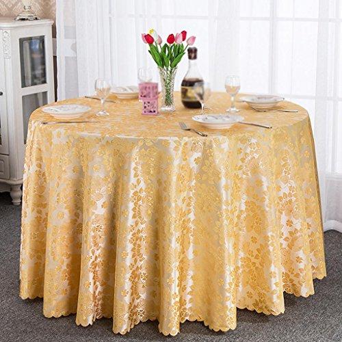 (ZHUOBU Tischdecke Restaurant Runde Floral Tisch Rock Restaurant Hotel Couchtisch Tuch, 3, Diameter 200cm)