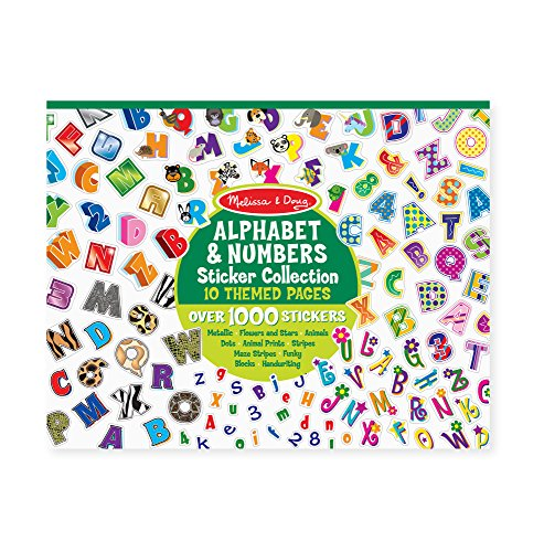 Sticker Collection - Alphabet & Numbers (Sticker Paper Doll)