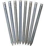 outdoorer Sandheringe, 30cm - Sandfortress 8 Stück 1,2 mm Dicke Stahlheringe mit V-Profil inkl. Transporttasche