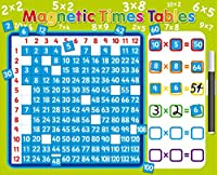 Magnetic 1-12 Times Tables Multiplication Board with separate magnets for each answer. Rigid board 40 x 32cm with hanging loop