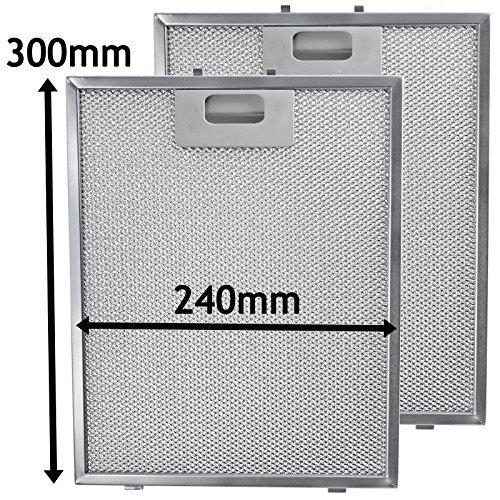 Spares2go filtro, malla metálica para Elica Campana de cocina/ventilador de extracción de...