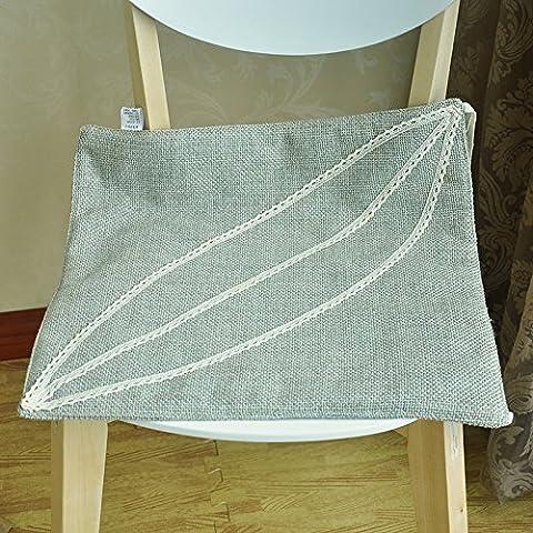 EFRC Tatami de respirante fine dentelle douce petite manger coussin coussin coussin bureau informatique bois chaises banc,1