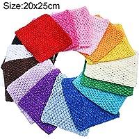 time to TtS Estirar La Tapa del Tubo Cintura Tutu Crochet Headband Suministros 5 Tamaños Disponibles -20x25cm (Brown)