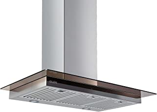 Glen Stainless Steel GL 6062 TS BF LTW Kitchen Chimney, Airflow 1250 m3/hr Touch Control 90 Cm (Silver)
