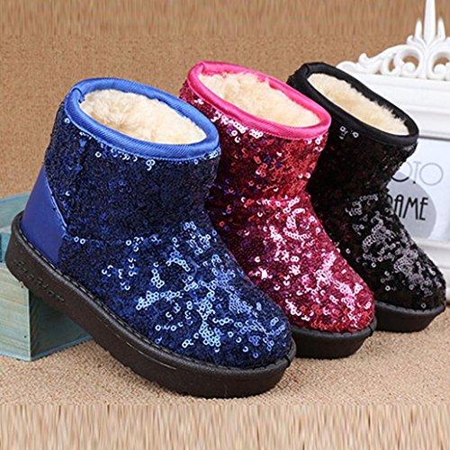 Bottes Garçons Hiver Épais Paillettes, QinMM Mode Neige Enfant Bébé Filles Chaussures