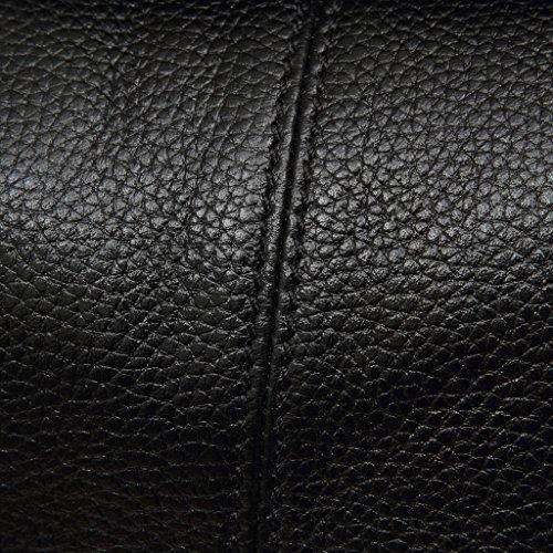 Artone Damen Echtes Leder Tragetasche Schultertaschen Handtasche Schwarz Quaste Schwarz