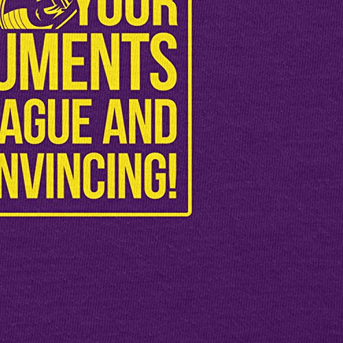TEXLAB - Your Arguments are vague and unconvincing - Herren T-Shirt Violett