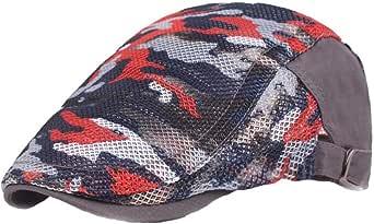 Aisoway Regolabili Camo Beret Hat Traspirante Maglia Piatta Cappelli per Unisex di Sport Esterno di cap