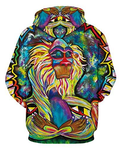 Unisex 3D Galaxy Druck Kapuzenpullover Cartoon Sweatshirt Weihnachten Langarm Top Shirt Herbst Spaß Hoodie für Teens Pullover 09