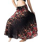 AOGOTO-Jupe Robe Gonna Lunga da Donna, Stile Hippie, Stile Gypsy, Boho, con Motivo Floreale