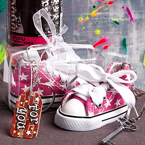 Oh So Cute Pink Star Print Baby Sneaker Key