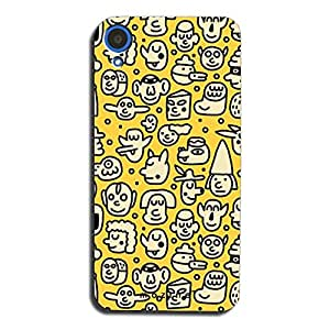 Mozine Faces Pattern printed mobile back cover for HTC desire 820