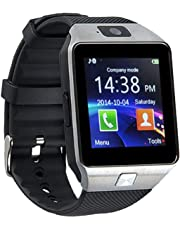 ZXEGA DZ09 Bluetooth Smart Watch with Touchscreen Multifunctional TF Sim Card Support for Mens Boys Kids Girls (Black)