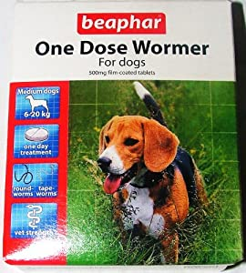 Beaphar One Dose Wormer for Dogs 2 x dose pack