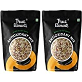 True Elements Antioxidant Mix Seeds 125g * 2 - (Roasted Sunflower, Pumpkin, Flax, Watermelon, Chia & Goji Berries), Healthy S