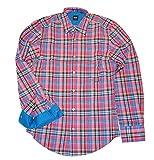 HUGO BOSS Kariertes Slim-Fit Baumwollhemd Ronny Farbe pink karo 444 (M)