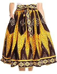 Sakkas Céline africaine néerlandaise Ankara Wax Imprimer Full Circle Jupe