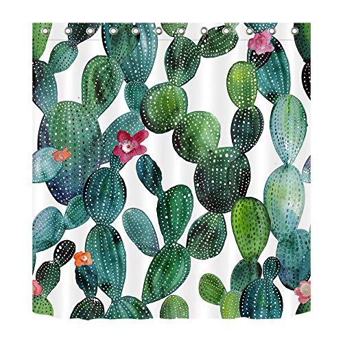 Lb pianta del deserto,fiore,cactus_arredamento tenda da doccia per bagno 59w x71h resistente all'acqua tessuto in poliestere tenda da bagno