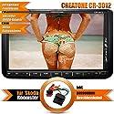2DIN Autoradio CREATONE CR-3012 für Skoda Roomster (2006 -) mit GPS Navigation mit Radarmeldung, Bluetooth, Touchscreen, DVD-Player und USB/SD-Funktion